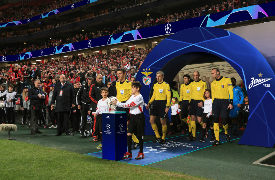 Walking out onto the pitch